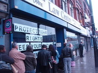 Queues outside South Manchester Law Centre