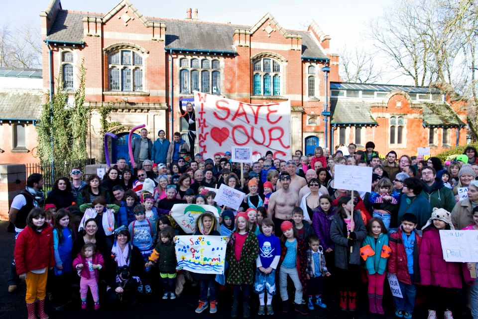 Save Withington Baths demo 27 Feb