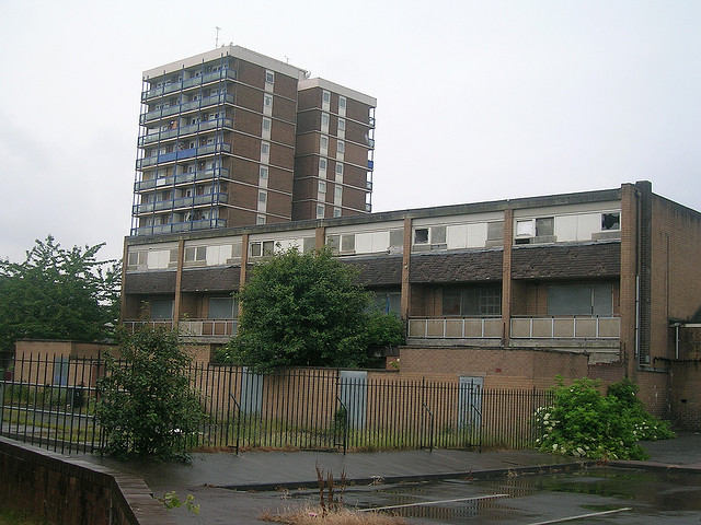 Boarded up flats in Miles Platting. Photograph: Gene Hunt/flickr
