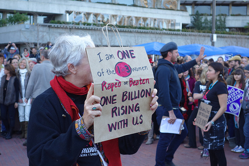 One billion rising in San Fransisco on the 40th anniversary of Roe vs Wade. Photograph: Steve Rhodes