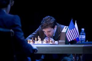 Hadley Fraser as Garry Kasparov. Photo: Helen Maybanks.