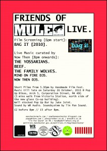 Manchester Mule fundraiser event flyer